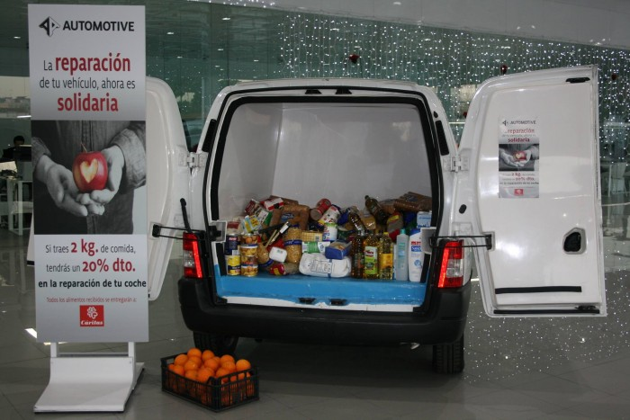 alimentos solidarios caritas automotive